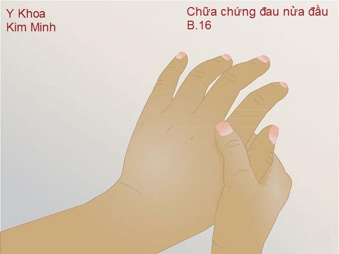 Chữa đau đầu, đau cột sống, đau đốt sống cổ bằng day huyệt đạo bàn tay
