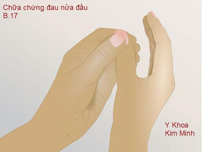 Lặp lại chu trình day ấn bàn tay phải giúp loại bỏ các cơn đau và tạo phản xạ