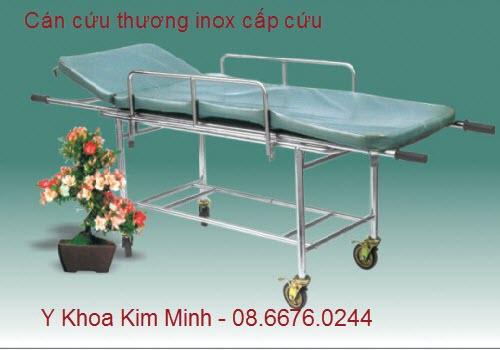 Cán cứu thương inox có khung xe đẩy