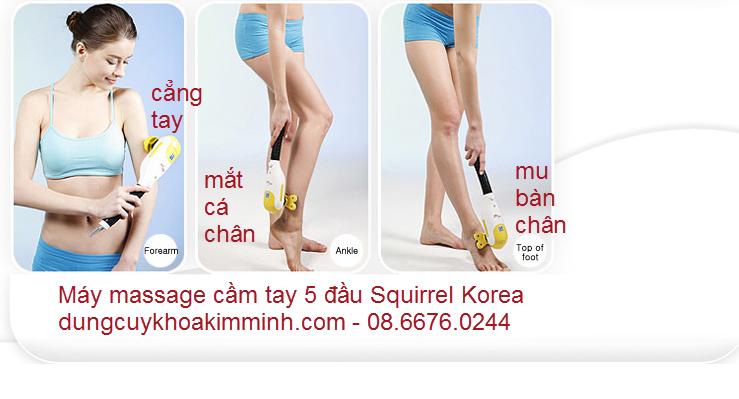 máy massage cầm tây Squirrel 5 đầu