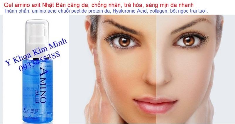 Serum gel amino acid Hanajirushi Nhật chuyên giữ ẩm chống nhăn, trắng sáng, trẻ hóa da - Y khoa Kim Minh