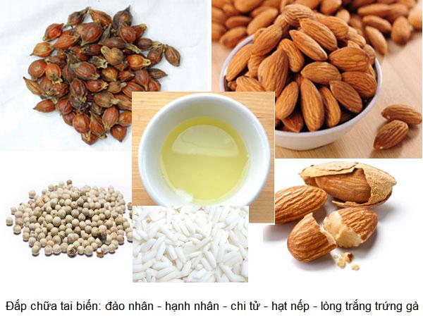 Bài thuốc đào nhân, hạnh nhân, chi tử, nếp hạt, tiêu sọ, lòng trắng trứng gà đắp chữa tai biến đột quỵ - Y khoa Kim Minh