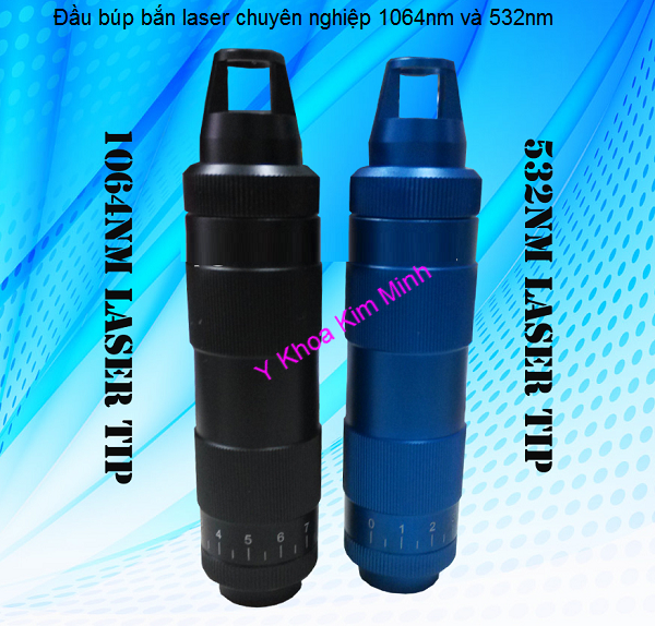 Nhập khẩu bán đầu tip laser bắn chuyên nghiệp có điều chỉnh spot size 532nm 1064nm Y khoa Kim Minh