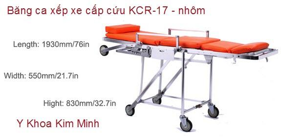 Băng ca nhôm xếp xe cứu thương KCR-17