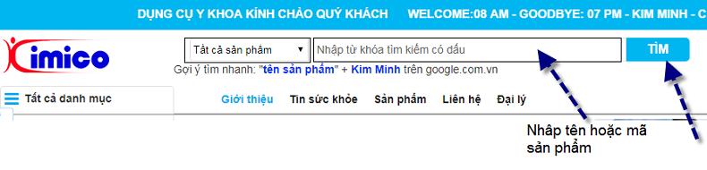 Cach tim kiem sang pham may cham soc da my pham serum cua website Y Khoa Kim Minh