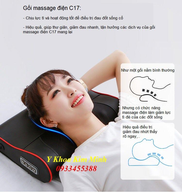 Chuc nang cong dung cua goi massage dien dieu  tri dau cot song co C17 - Y khoa Kim Minh