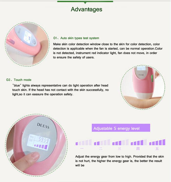 Máy triệt lông công nghệ IPL trẻ hóa trắng da và trị mụn KGP-582 mini