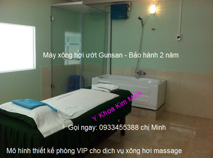 Cong ty thiet ke lap dat phong xong hoi masssage Steam Sauna Gunsan Han quoc Y Khoa Kim Minh