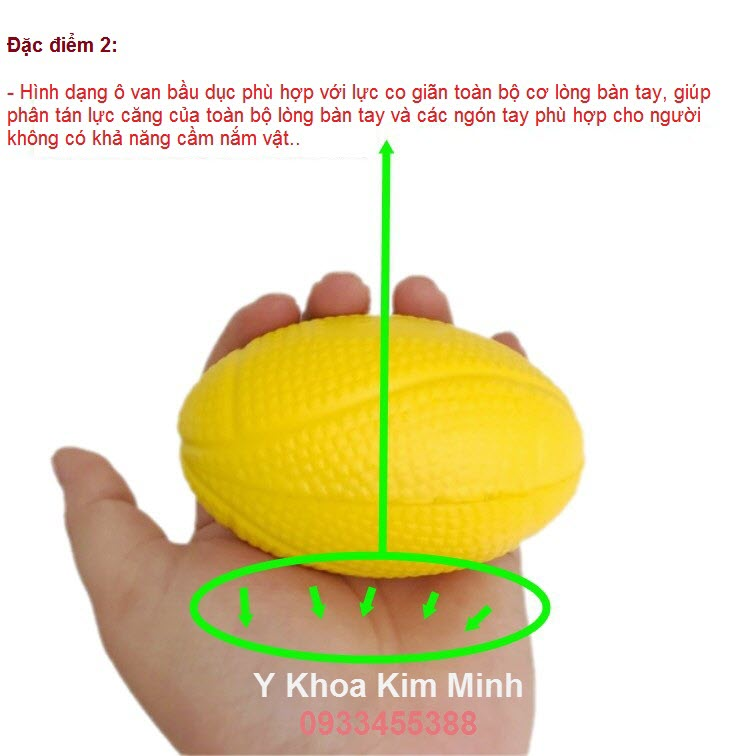 Dac diem 2 banh bong tap manh tay cho nguoi sau tai bien - Y Khoa Kim Minh