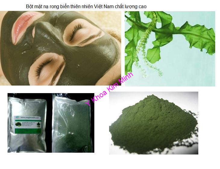 Bột mặt nạ rong biển thiên nhiên Việt Nam chất lượng cao Y Khoa Kim Minh