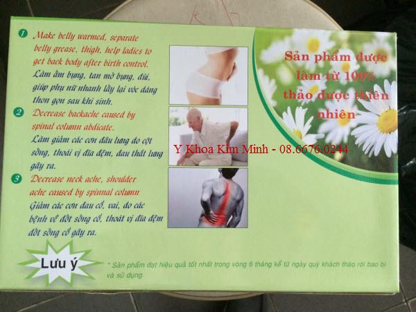 Đai thảo dược Suny quấn điều trị đau cột sống, đau khớp
