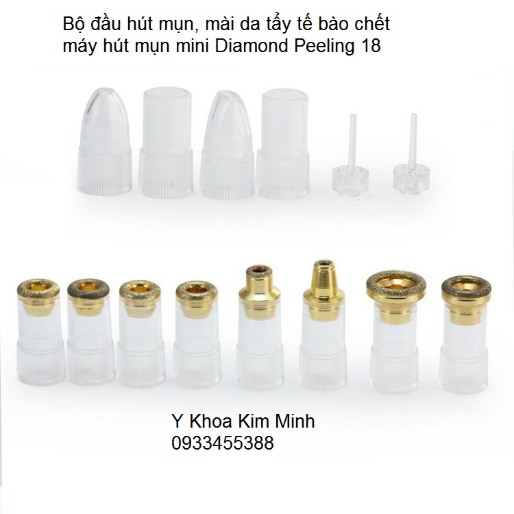 Bo dau may hut mun mai da kim cuong may hut mun mini Diamond peeling 18 kim minh