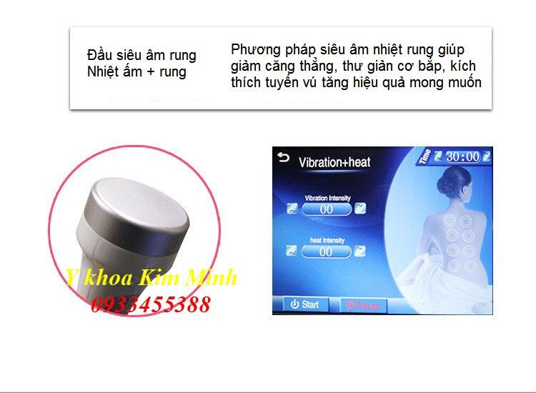 Đầu RF siêu âm nóng kết hợp rung giảm stress, thư giản cơ thể máy RF 3D - Y khoa Kim Minh 0933455388
