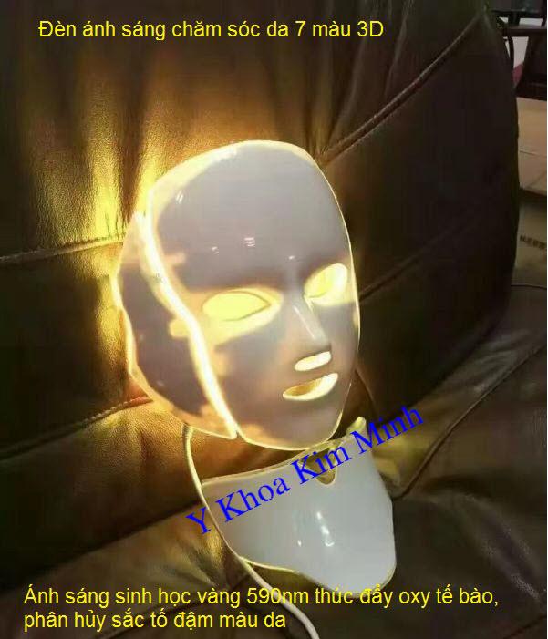 Ánh sáng sinh học 7 màu 3 chiều Y Khoa Kim Minh chăm sóc da