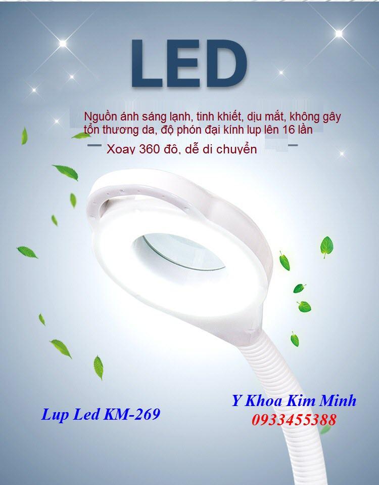 Đèn lúp led ánh sáng lạnh có tăng giảm cường độ sáng bán tại Y Khoa Kim Minh 0933455388