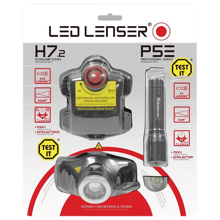 Bộ đèn khám ngũ quan đội đầu và viết đèn H7.2 và P5E của hãng Led Lenser Đức