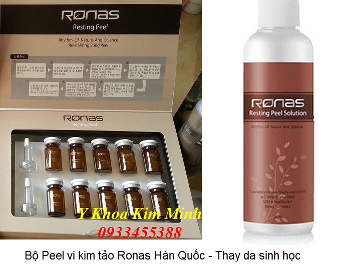 Bo peel vi kim tao Ronas Peel thay da sinh hoc Han Quoc - Y khoa Kim Minh