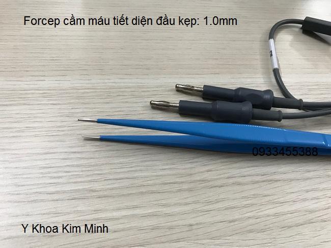 Forcep cam mau dung  cho may cat dot dien luong cuc y khoa kim minh 0933455388