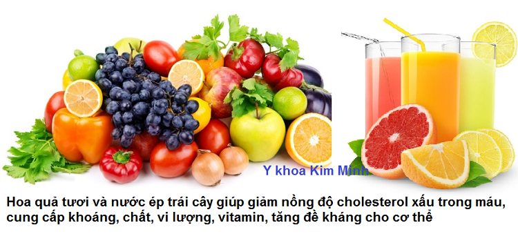 Giam cholesterol xau LDL, tang de khang cho co the bang hoa qua trai cay tuoi Y Khoa Kim Minh