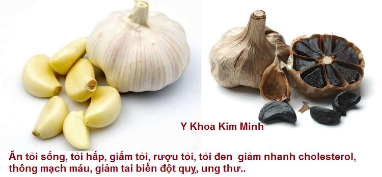Giam nhanh cholesterol, ngan ngua benh tim mach, thong mach mau, ngan ngua ung thu bang cu toi va toi den Y Khoa Kim Minh