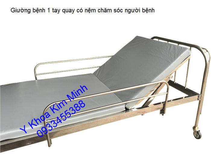 Giuong benh y te 1 tay quay nang dau cung cap ban tai y khoa kim minh