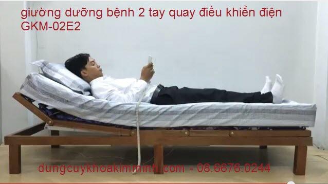 Giường y tế điện 2 tay quay GKM-02E2