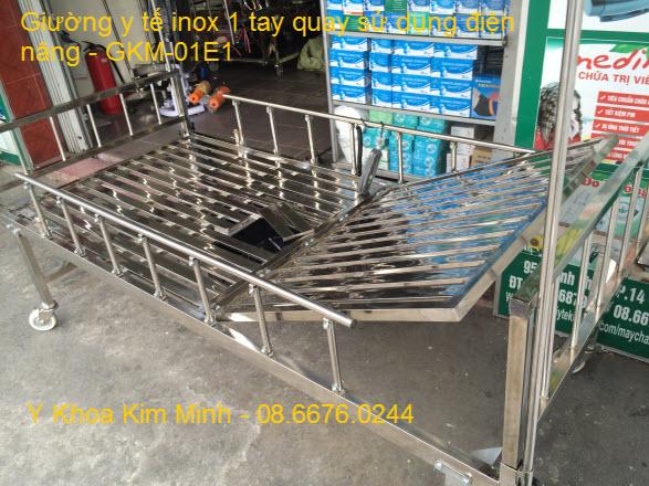 Giường điện y tế GKM-01E1 sản xuất tại Việt Nam