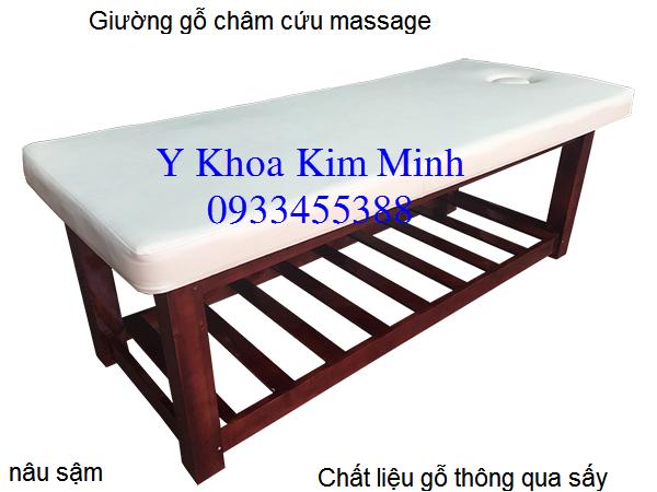 Giuong go masasage cham cuu ban tai dia chi cong ty Y khoa Kim Minh