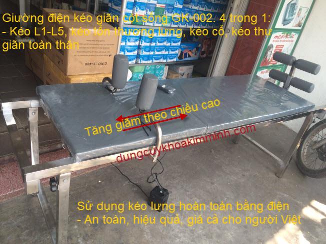 Giường điện kéo giãn cột sống GK-002