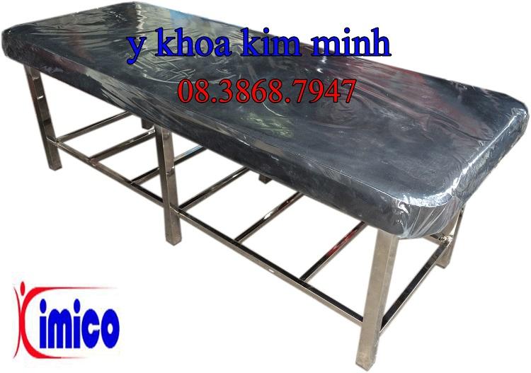 Giuong massage inox chan vuong dung trong cham cuu vat ly tri lieu Y Khoa Kim Minh