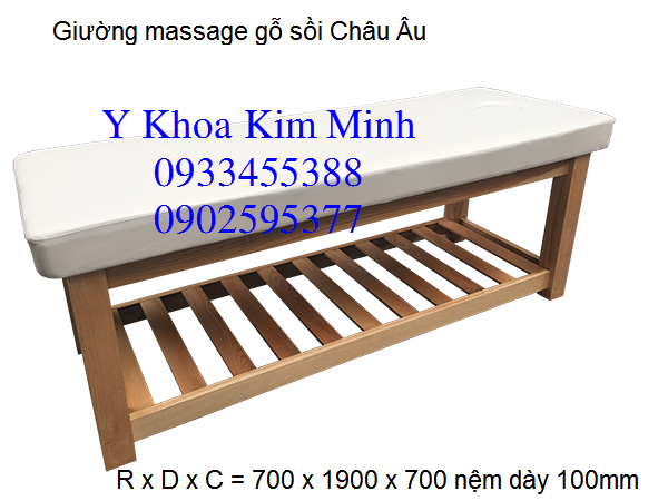 Giuong massage go soi Chau Au, Y Khoa Kim Minh cung cap phan phoi gia si toan quoc