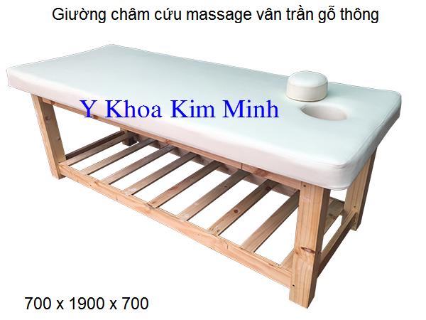 Giuong massage cham cuu van tran go thong ban tai Y Khoa Kim Minh