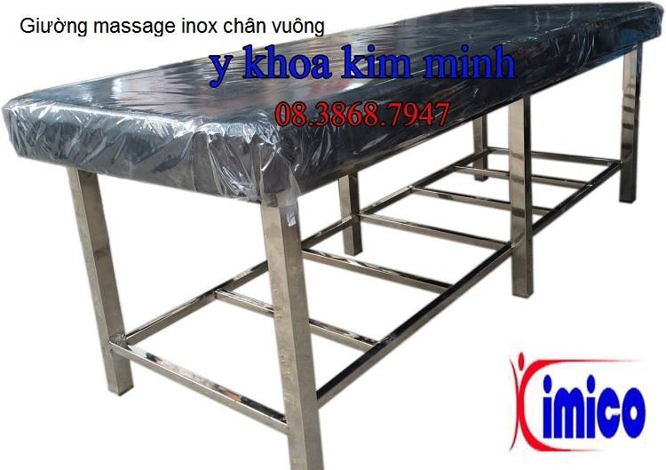 Giuong massage inox chan vuong Y Khoa Kim Minh