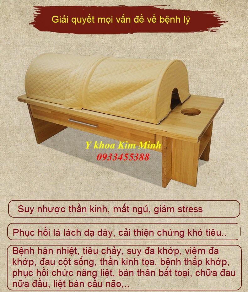 Giường xông thuốc, xông nhang ngãi cứu trị bệnh GX-06 - Y khoa Kim Minh 0933455388