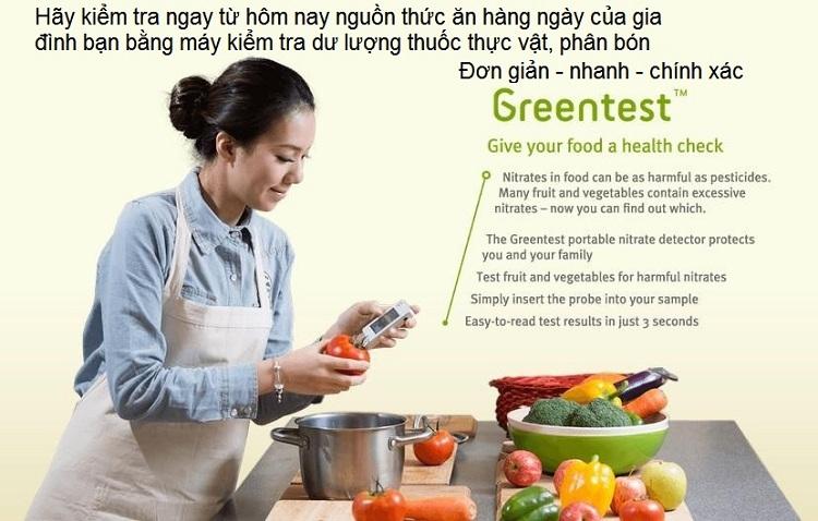 Greentest là thiết bị kiểm tra dư lượng thuốc bảo vệ hực vật Nitric Oxide NO3 cho kết quả nhanh nhất hiện nay Y Khoa Kim Minh