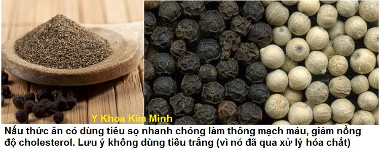 Hat tieu den dung trong nau nuong thuc an co the giam nhanh nong do cholesterol trong mau Y Khoa Kim Minh