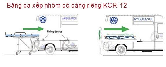 Băng ca nhôm xếp tháo rời xe cứu thương KCR-12