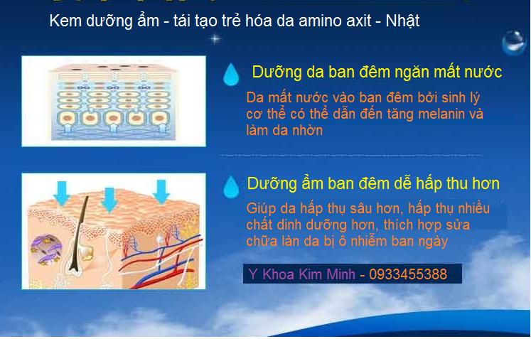 Kem duong am va tai tao da amino axit Nhat Ban Y khoa Kim Minh cung cap ban tai tp hochiminh