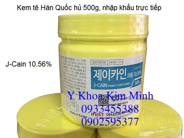 Kem te di lan kim, xoa xam, cang da mat Y Khoa Kim Minh J-Caine Lidocaine 10.6%