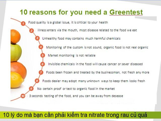 Kiem tra nong do du luong thuoc khang sinh bao ve thuc vat trong rau cu qua greentest Y Khoa Kim Minh