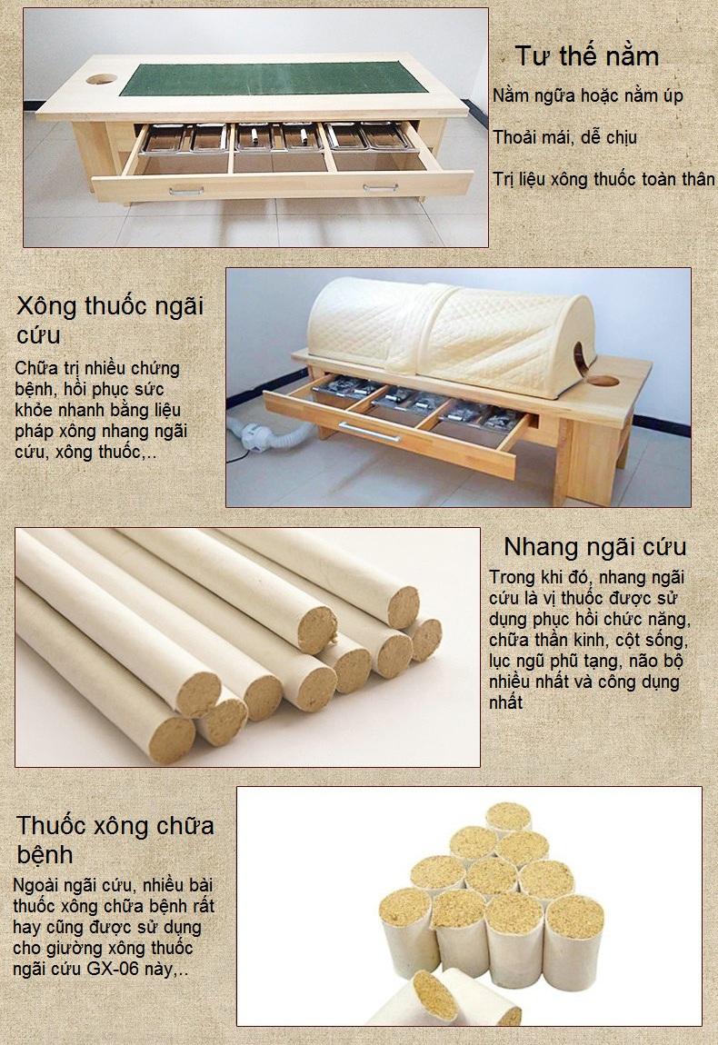 Lợi ích của việc sử dụng giường xông thuốc nhang ngãi cứu chữa bệnh GX-06 - Y Khoa Kim Minh 0933455388