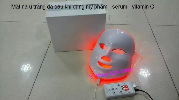 Mat na u trang da sinh hoc dung sau khi di kem duong chat serum KM-7P Y khoa Kim Minh