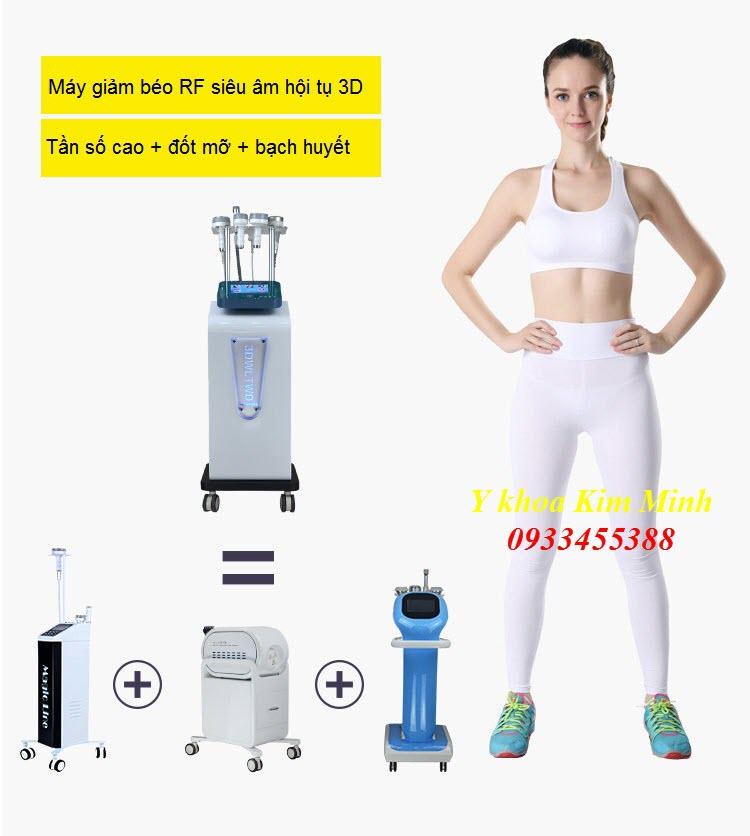 Máy giảm béo 3D công nghệ RF siêu âm hội tụ 60K - Y khoa Kim Minh 0933455388