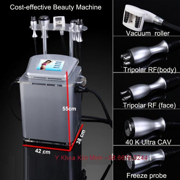 Máy giảm béo toàn thân RF Caviation 40K Roller Vacuum V8 mini