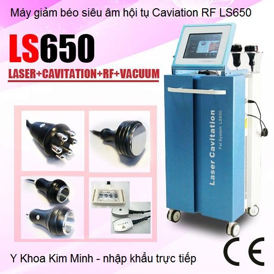 Máy giảm béo siêu âm hội tụ công nghệ laser Caviation RF LS650 Y Khoa Kim Minh