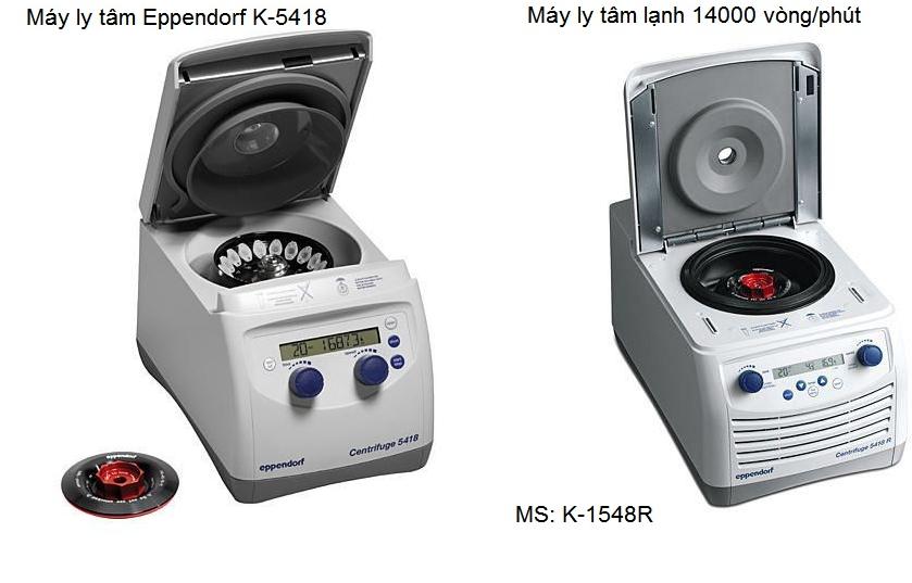 Máy li tâm lạnh hãng Eppendorf 5418 Y khoa Kim Minh nhập khẩu phân phối trực tiếp