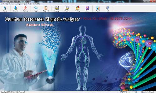 Máy kiểm tra phân tích sức khỏe sinh học cơ thể
