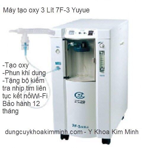 Máy tạo oxy 3 lít có phun khí dung 7F-3 Yuyue Kim Minh