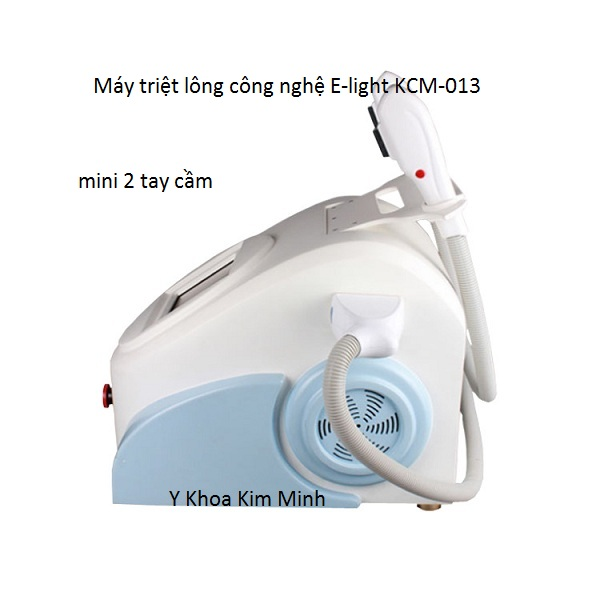 May triet long 2 tay cầm E-light IPL+RF KCM-013