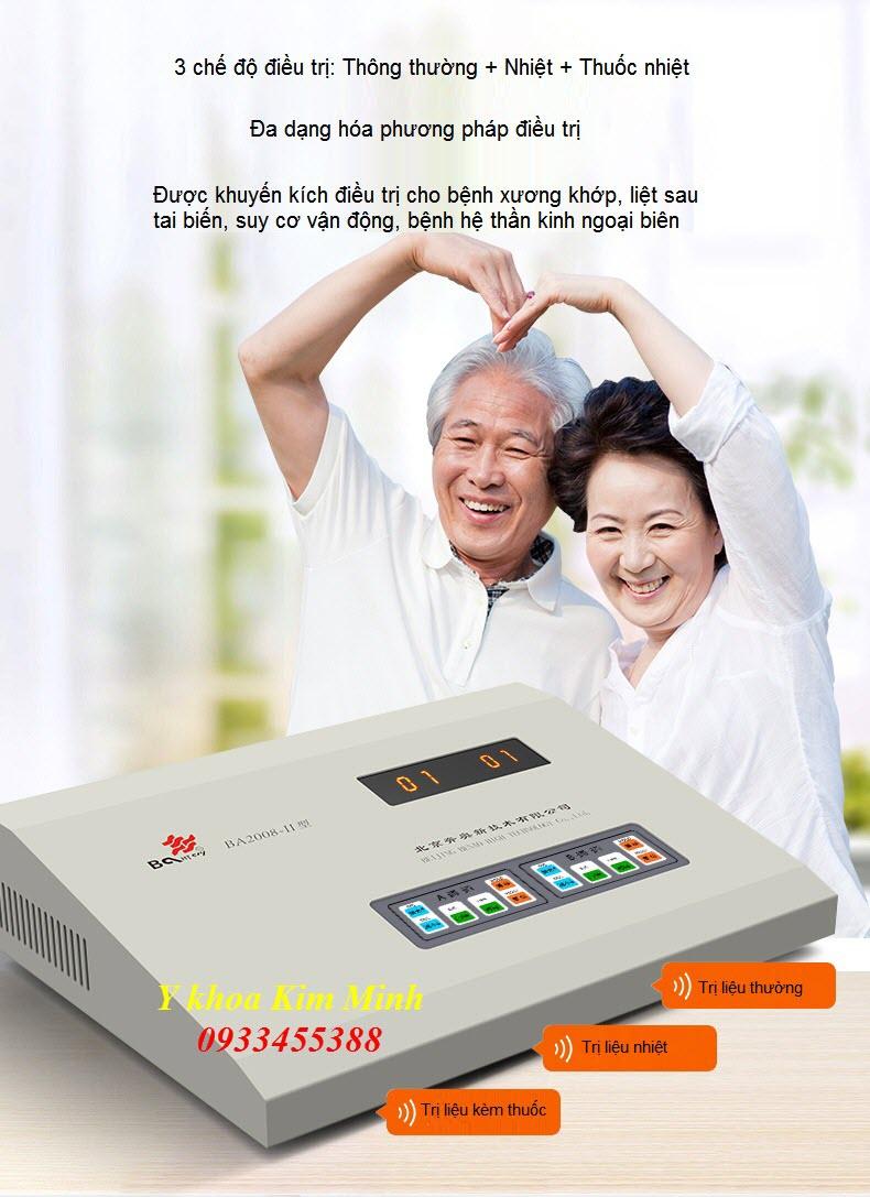Máy vật lý trị liệu phục hồi chức năng BA2008-II bán tại Y Khoa Kim Minh 0933455388